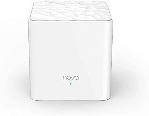 Tenda Nova MW3 Sistema WiFi Mesh AC1200 Dual Band Copertura Fino a 100 mq, App Controllo in Italiano, Facile installare, Confezione da 1 Pezzo