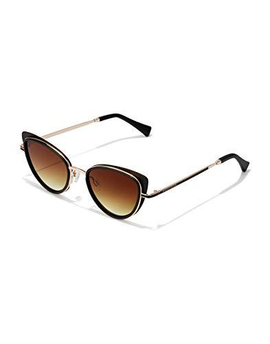 HAWKERS Feline Gafas, Dorado negro, Adulto Unisex