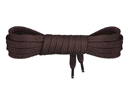 Mount Swiss Luxury Schnürsenkel flach ø 7 mm I 1 Paar reißfeste Premium Schuhbänder aus 100% Baumwolle ideal für Sneaker Sportschuhe Lederschuhe Freizeitschuhe Farbe: Darkbrown, Länge: 120cm