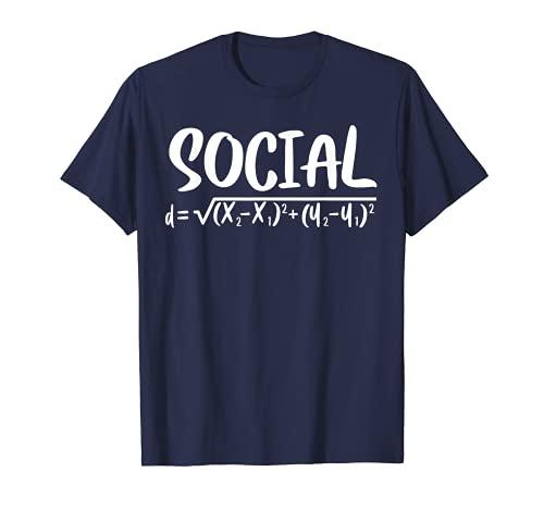 Social Distance Math Teacher Quarantine Funny Math T-Shirt