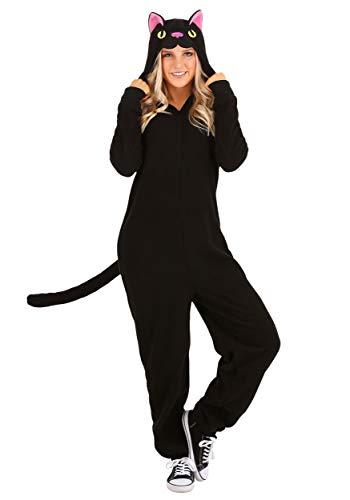 Adult Black Cat Onesie Medium
