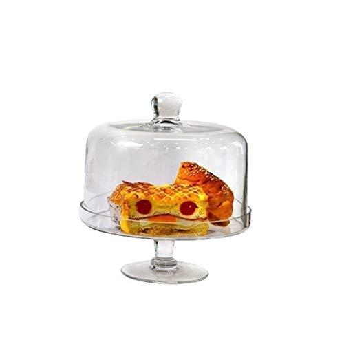 QFF-Obstgericht Premium-Dessert Tisch, Brot Falafel Tray Pie Donuts mit Käse Dome Glass Candy Jar Set Chip & Dip Server 15/20 / 24cm Geschirr (Size : 24 * 24 * 26CM)