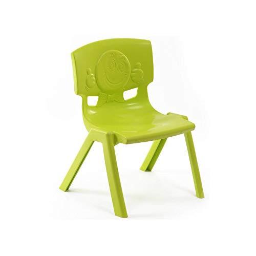 Nilkamal Livshine Intra Strong and Durable Plastic School Study Chair for Kids (Green, Medium)