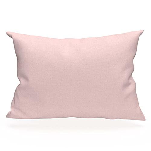 Soleil d'Ocre 554827 - Funda de almohada de algodón, color rosa, talla 50 x 75 cm