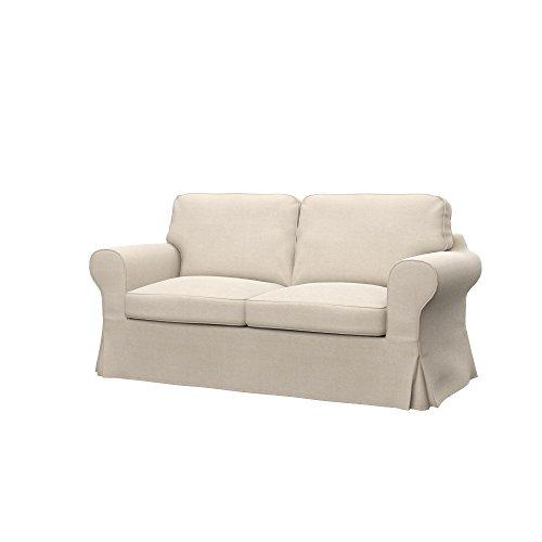 Soferia Bezug fur IKEA EKTORP 2er-Sofa, Stoff Elegance Creme