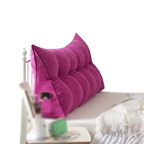 ZWDM Bolster Triangular Almohadilla Grande, Cabecera Cojín For Sofá Cama Tapizado Cojines Doble Tatami Almohada, (Color : Purple, Size : 60x20x50cm)
