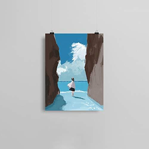 PLjVU Anime Lienzo póster Pintura Pared Arte decoración Sala de Estar Dormitorio Estudio decoración del hogar impresión-Sin marco30x40cm