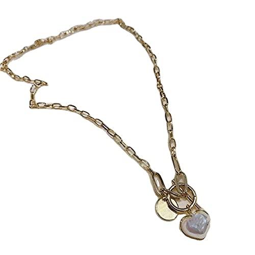 Collar de cadena de amor de la perla de la manera del temperamento fresco de la moda de la clavícula de la cadena de hueso de serpiente