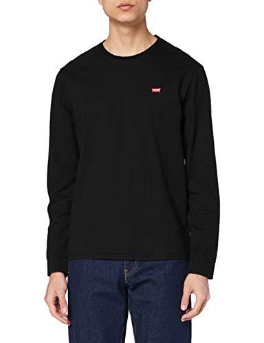 Levi's LS Original Hm tee Camiseta, Black, S para Hombre