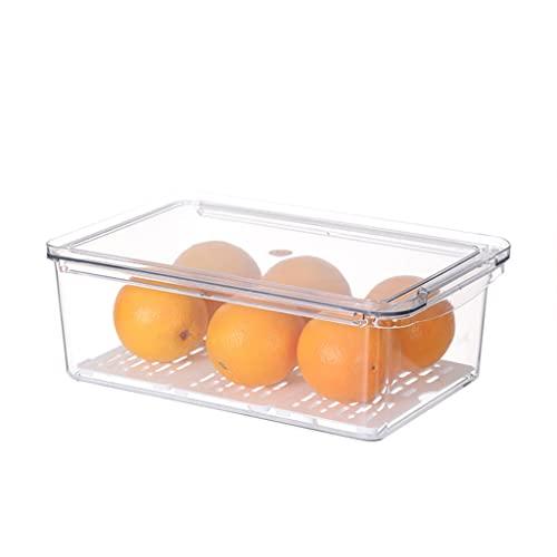 IRYNA - Cajón apilable transparente para cocina, tipo cajón para frigorífico, clasificación de alimentos, escurridor, para verduras