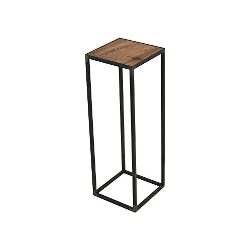 Spinder Design ZU150-02-35 Table d'appoint, Acier/chêne, forgé, 21 x 21 x 60 cm