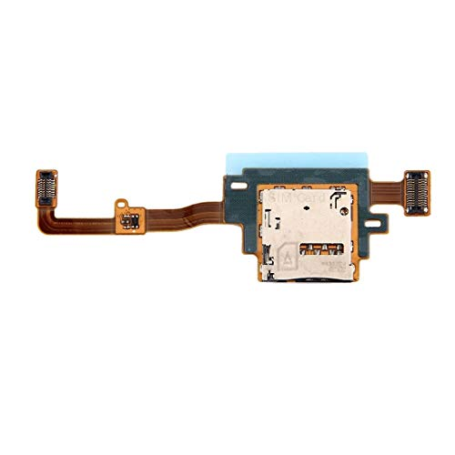 TKTK Mobile Phone Card Socket Replacement SIM Card Reader Contact Flex Cable for Compatible for Galaxy Tab S 10.5 LTE / T805