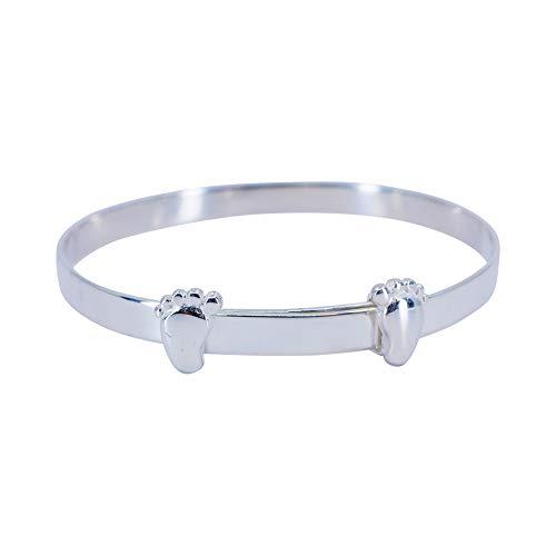 Sincerelyforyou Baby Bangle Bracelet For Girls Sterling Silver 925 My First Birthday Gifts Baby Girl Jewellery Sentimental Gifts Keepsake Box