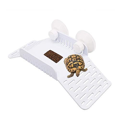 X-zoo Plataforma de tortuga, plataforma de tortuga, con ventosa para descansar y comer escondite para pequeños reptiles, ranas de tortuga, rana, terrapin