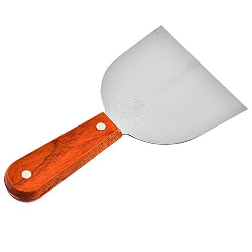 UPKOCH Spatola Triangolare in Acciaio Inossidabile Raschietto tagliapasta con Manico Pancake Spatola Turner Spatola per Barbecue Grill Cottura 19 x 10,3 cm