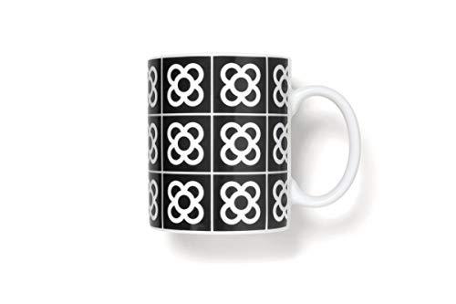 Taza Flor de Barcelona/Negro/Porcelana 35cl