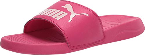 PUMA Women's Popcat Slide Sandal, Bright Rose-Rosewater, 10 M US