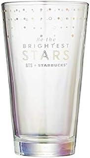 スターバックス(Starbucks) BTS 防弾少年団 コラボ リアル ゴールド スター グラス Gold star glass 500ml 海外限定品 日本未発売 スタバタンブラー