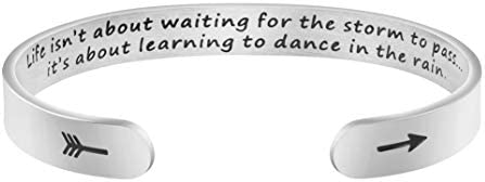 Dance in the Rain Inspirational Bracelets for Women Empowerment Uplifting Message Jewelry product image