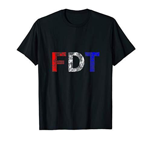 """""""FDT""""F Donald Trump, Anti-Trump Distressed Funny T-Shirt"""