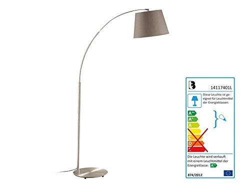 LED Lampadaire Abat-jour Couleur Cappuccino Taupe'