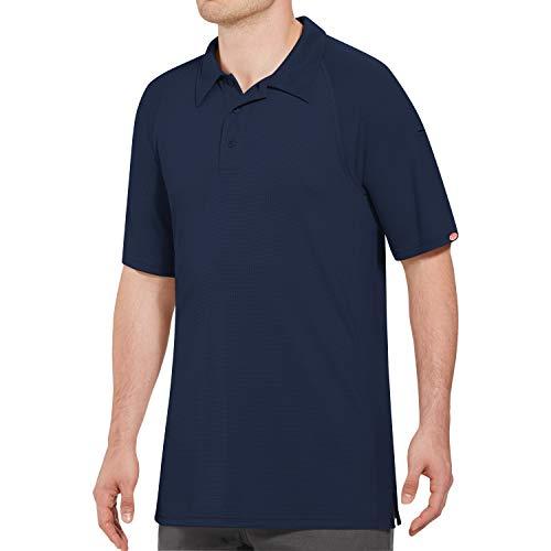 Camisa polo masculina Red Kap Big and Tall Big & Tall Active Performance, Azul marino, 5X-Large