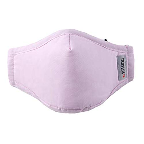 Face Madk, TSSPLUS Cotton Face Madk,Month Madks Breathable Bandana Madk +2 Carbon Filters (Pink)
