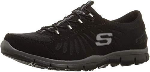 Skechers Sport Women's Gratis-In Motion Fashion Sneaker, Black, 8.5 M US