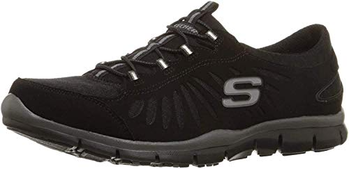 Skechers Sport Women's Gratis-In Motion Fashion Sneaker, Black, 8.5 M US