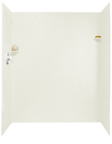 shower wall materials Swanstone SK-346072-018 34-Inch by 60-Inch by 72-Inch Shower Wall Kit, Bisque Finish