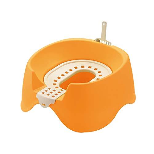 Sentado Camada Tipo Cat Bandeja de Gran Abierto de Dos Pisos de Arena for Gatos Aseo Pet Box Training Kit Anti Salpicaduras Desodorante WC (Color : Orange)