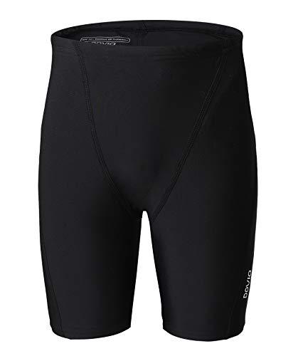 Dovio Boys  UPF 50+ Swim Jammer Youth Quick Dry Athletic Training Swimming Short(DOK505BLACK-L)