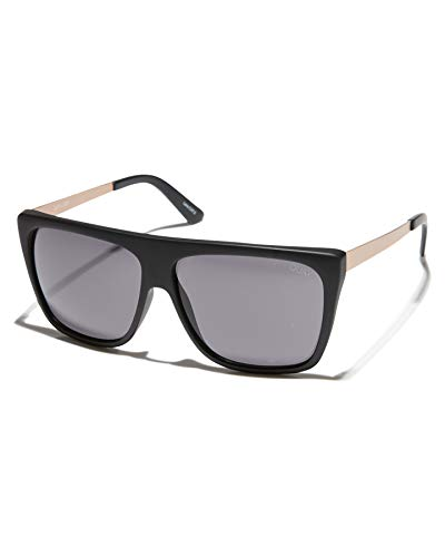 Quay Australia OTL II Women's Sunglasses Oversized Square Sunnies - Black/Smoke