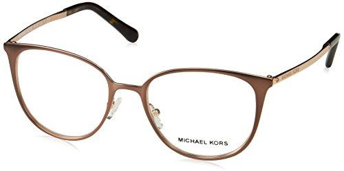 Michael Kors Damen 0MK3017 Sonnenbrille, Satin Brown/Rose Gold/Tone, 51