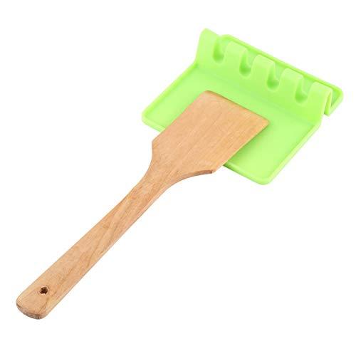 Soporte de silicona para utensilios, soporte de silicona para utensilios, herramienta de cocina de silicona resistente al calor, fácil de limpiar, saludable para la cocina(green)