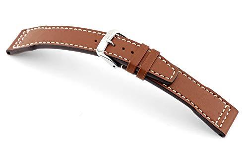 Correa para reloj RIOS1931, hecha a mano en Alemania, marrón claro, 20mm, Correas.
