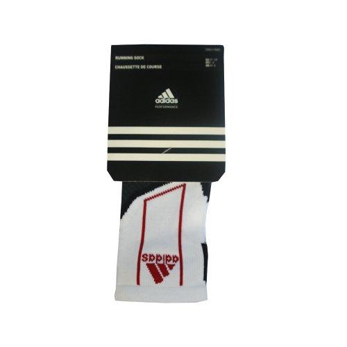 adidas T Run - Calcetines tobilleros (2 pares) blanco White/Black/Red Talla:UK Size 8.5-10