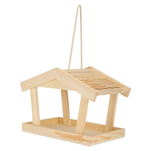 【Cadeau d'avril】Country Cottages Bird House, nichoir en bois petit jardin en plein air nichoir d'oiseaux Bird House Bird nid Box pour accrocher en plein air