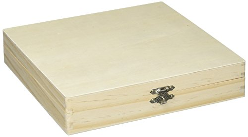 Darice 9180-06 Unfinished Cigar Box, 8.375'x8.125'x1.75', Brown