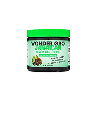 Jamaican Black Castor Oil Hair Grease Styling Conditioner, 12 fl oz - Great for Strengthening - Mega Hair Growth Therapy by Wonder Gro