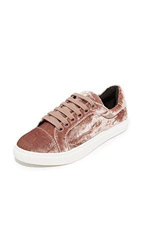 Rebecca Minkoff Women's Bleecker Too Velvet Sneakers, Berry Smoothie, 7.5 B(M) US