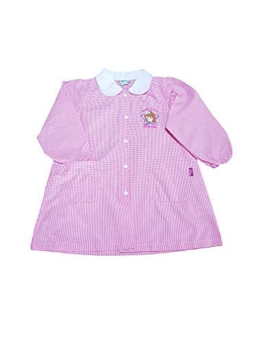AMBROSINO Grembiule asilo quadri rosa Principessa Sofia scuola materna per bambina (WD15152A QUADRI ROSA, 60-5 ANNI)
