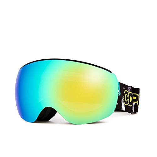 Generieke Skibril voor kinderen magnetische kinderen Skibril voor kinderen Uv400 anti-condens-masker bril skiën meisjes jongens snowboardbril met gepersonaliseerde dragers