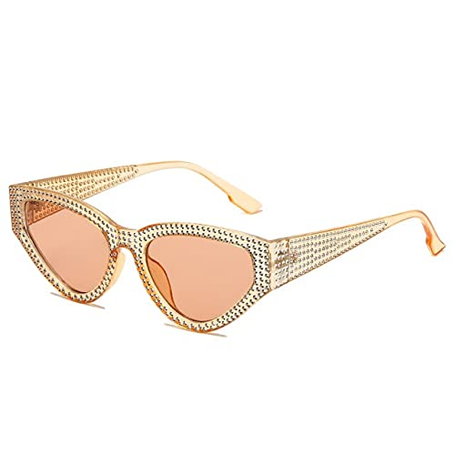 Gafas de sol de ojo de gato de moda con diamante de lujo marca diseño mujeres personalidad gafas sol sombras Uv400 gafas