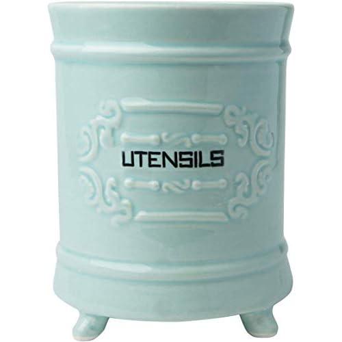 Comfify French Ceramic Utensil Holder - Blue