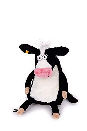 sigikid, Kuh - Milk on the Fields, Beaststown, Kuscheltier für Erwachsene und Kinder, schwarz/weiß ,38980