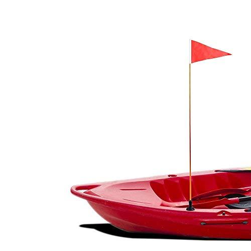 Yundxi Kit de base de bandera de seguridad universal con base de montaje en riel y poste de bandera para barco, canoa, kayak, accesorios de bricolaje