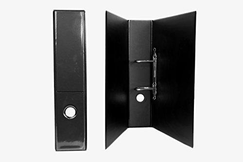 2 DIN A 4 Präsentations - Ordner in schwarz 65 mm breit aus deutscher Produktion