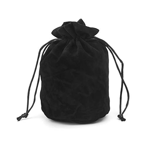 LDA GET Fresh Jewelry Packing Kordelzug Brettspiel, Dungeons and Dragons Velvet Dice Bag-Black