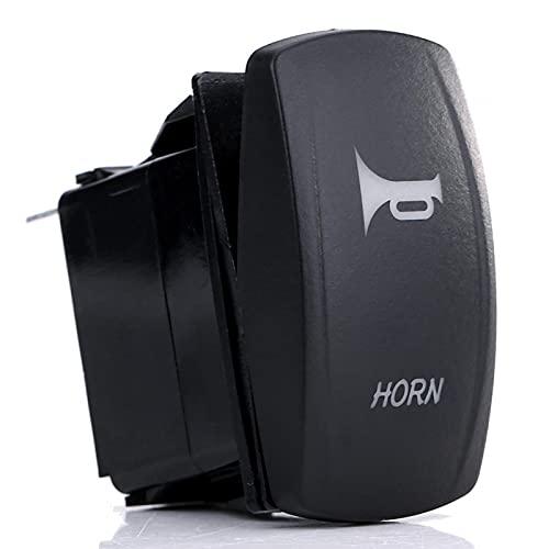 Chave liga/desliga, chave seletora preta com luz de trabalho LED para barco para 12 / 24V Veículo para motocicleta para iate para carro para caravana